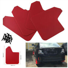 4x Red Plastic Moulding Mud Flaps MudFlaps Splash Guard Fender Mudguard For Car