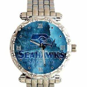 Seattle Seahawks NFL Women's Luxury Stainless Steel Watch (RARE) NEW