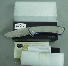 BUCK KNIFE 0040TTSLE ONSET DAMASTEEL DAMASCUS BLD W/ TITANIUM HDL LIMITED USA