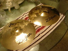 ZILDJIAN A CUSTOM 13 INCH HATS......EXCELLENT CONDITION.....FACTORY MATCHED