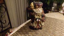 "20#4   Vintage Stand Up Santa Claus Plastic figurine   5 1/2 "" tall ADORABLE"