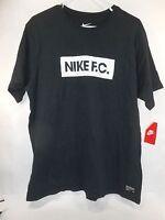 New Mens NIKE Graphic Black T-Shirt Size XL ***
