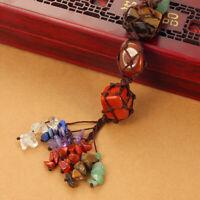 7 Chakra Stone Feng Shui Tassel Spiritual Hanging Pendant Charm Car Home Decor
