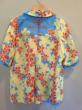 Men's Dekuyper Peachtree Schnapps Shirt Hawaiian Flowered Floral XL EUC