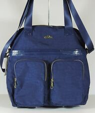 New Kipling Camryn Solid Laptop Handbag Navy Blue