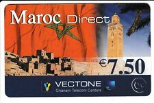 FRANCE  TELECARTE / PHONECARD  PREPAYEE .. 7€50 VECTONE MAROC DRAPEAU 12/05 +N°