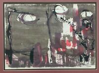 Nice Vintage 1950s Abstract Serigraph Art Wall Hanging Mid Century Modern Signed