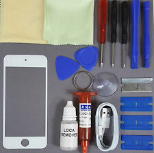 Apple iPod Touch 5 Replacement Screen Front Glass Replacement Repair Kit WHITE