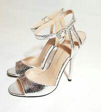Brand new Ladies LITTLE MISTRESS silver strap party shoes sandals size 3 uk