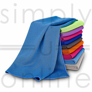 Instant Cooling Towel ICE Cold - Golf Cycling Jogging Gym Sports Outdoors