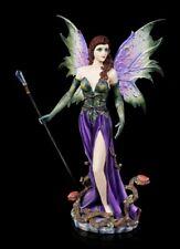Elfen Figur - Caro mit Zauberstab - Fantasy Fee Elfe Magierin Dekostatue