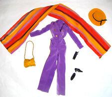 Barbie Ensemble Fashion Purple Jumpsuit Outfit For Barbie Doll hf11