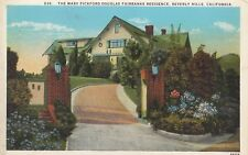 Postcard Old The Mary Pickford Douglas Fairbanks Residence Beverly Hills Ca A216