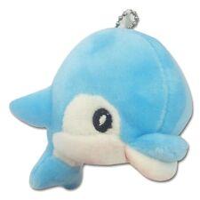 "4"" Light Blue Baby Dolphin Stuffed Aminal Soft Plush Keychain New Cute Toy New"