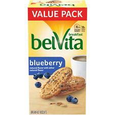 belVita Blueberry Biscuits, 12 Packs (4 Biscuits Per Pack)