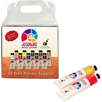 Jo Sonja's 10 Brilliant Colours x 20ml Artists Acrylic Paint Tubes Set Art Kit