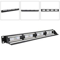 24-Port Mountable CAT6 CAT-6 UTP Data Patch Panel Steel Network Cable Rack IN