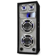 DJ PA 3 WEGE HIFI STAND LAUTSPRECHER BOX SUBWOOFER LED SOUND TOWER BASS EVENT