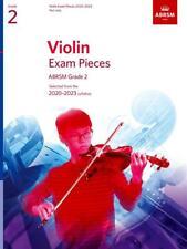 ABRSM Violin exam pieces 2020 - 2023 Part only Grade 2