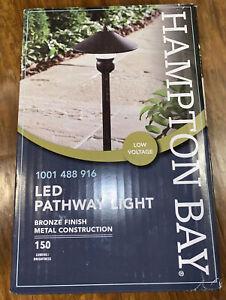 NEW Hampton Bay LED Low-Voltage 150 Lumens Bronze  Landscape Path Light NEW