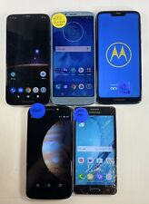 Lot of 5 SAMSUNG AND MOTO MIXED MODELS/T MOBILE/METRO/GOOGLE LOCK *Check IMEI*