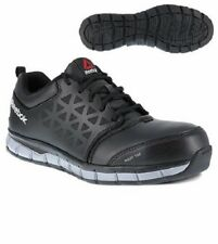4a1039cee10190 Reebok Men s RB4049 Black Sublite Cushion Alloy Toe Conductive Athletic  Oxfords