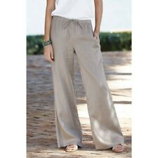 The Company Store Linen Wide Leg Pants- Taupe Sz S