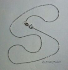 """925 Sterling Silver Fancy Snake Chain / Necklace - 16"""", 1mm, 2.8 Grams"""