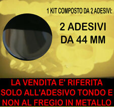 KIT ADESIVO STICKERS STEMMA LOGO COFANO ANTERIORE BMW MINI COOPER 2 PEZZI 44 MM