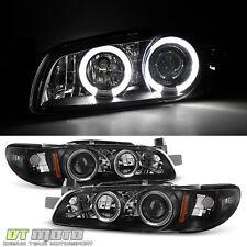 Black 1997-2003 Pontiac Grand Prix LED Halo Projector Headlights Lamp Left+Right