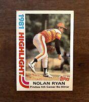 1982 Topps #5 Nolan Ryan Houston Astros