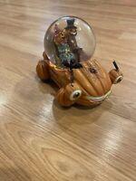 Preowned Halloween Characters in Pumpkin Car Musical Snow Globe - Jack  Lantern