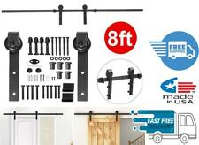 8 Ft Heavy Duty Sliding Barn Door Hardware Kit Single Door Track Rail System Set