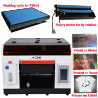 ACHI A3 UV Printer &1390 Printed Head & Rotary Holder Cylindrical 3D Embossed