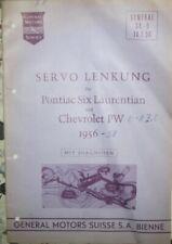 Chevrolet Pontiac Laurentian  Manual  Service Handbuch Servolenkung deutsch 1956