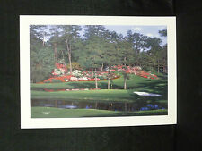 Larry Dyke Signed Fifteenth At Augusta Golf L/E Masters Tournament Lithograph