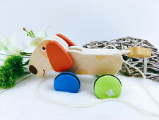 Nachziehtier Hund aus Holz, Holzspielzeug