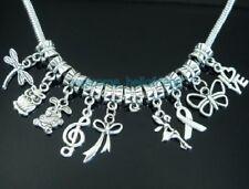 Free Ship 50 Tibetan Silver Bulk Lots Mix Dangle Charms Beads Fit Bracelet ZY10