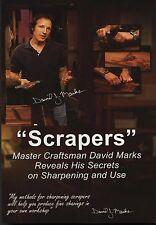 David J. Marks Scrapers  DVD Woodworking Instruction DIY  video