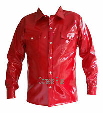 Patternless Shiny Long Sleeve Casual Shirts & Tops for Men
