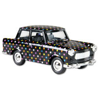 Trabi Trabant Limousine mit Punkten,Modellauto DDR Metall 12 cm,NEU