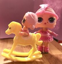 LOL Surprise Doll Little Lil Sister L.O.L. Baby Rocking Horse Dollhouse NO DOLL*