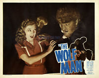 THE WOLF MAN LON CHANEY  REPRODUCTION OF ORIGINAL LOBBY CARD
