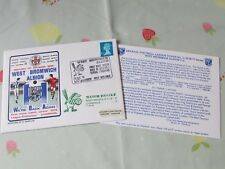 WEST Brom v LIVERPOOL 1976 Return to Division 1 FOOTBALL First Day Cover