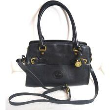 Vintage Dooney & Bourke Black Leather P212 Satchel Shoulder Bag Purse