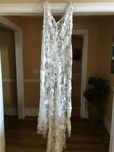 Allure Bridals 8800 Ivory/Beaded/Lace Wedding Dress SIZE 12
