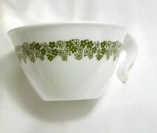 Corelle Spring Blossom Crazy Daisy Open Handle Hook Cup Green Flowers Vintage
