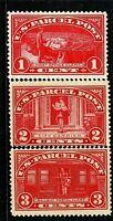 [DH]   US #Q1-Q3 Mint-OG 1913...1c-3c PARCEL POST...Free Shipping!