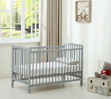 MCC Grey Brooklyn Baby Cot Crib With Water repellent Mattress
