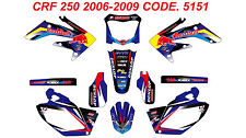 5151 HONDA CRF 250 2008 2009 Autocollants Déco Graphics Stickers Decals Kit